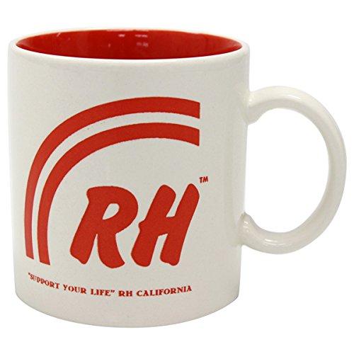 Size【フリー】RON HERMAN(ロンハーマン) オリジナル レインボーマグカップ【白赤】