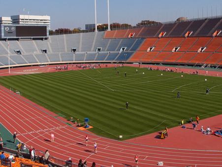 陸上競技場の画像